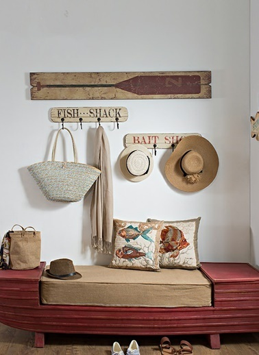 Warm Design Vintage Eskitme Kürekler Duvar Dekoru Renkli